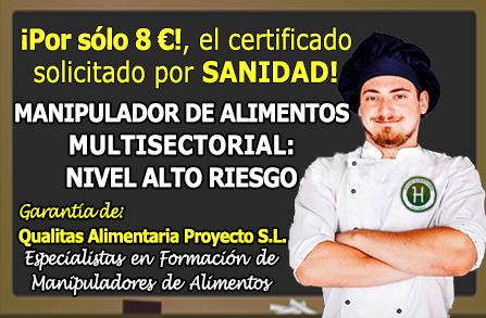 Curso carnet y certificado de manipulador de alimentos 8 validez oficial - Certificado de manipulador de alimentos gratis online ...